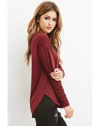 Forever 21 - Purple Striped Long Sleeve Tee - Lyst