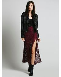 Free People - Purple Simone Twist Mini Skirt - Lyst