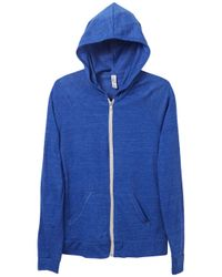 Alternative Apparel | Blue Relay Raglan Eco-jersey Zip Hoodie | Lyst
