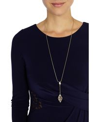 Coast - Metallic Evelyn Droplet Necklace - Lyst