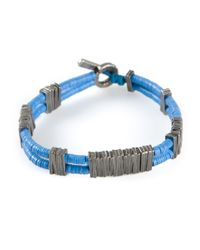 M. Cohen - Blue Double Strand Bracelet for Men - Lyst