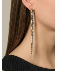 Puro Iosselliani - Metallic Tangled Pendant Earrings - Lyst