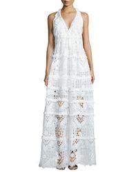 Alexis - White Nubia Crochet Halter Maxi Dress - Lyst