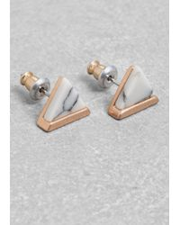 & Other Stories | Metallic Stone Studs | Lyst