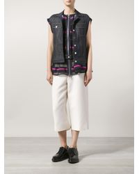 Sacai - Black Layered Denim Vest - Lyst