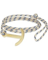 Miansai | Blue Brass Rope Hook Bracelet, Men's, Khaki | Lyst