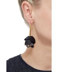 Marni | Metallic Flower Leather Earrings | Lyst