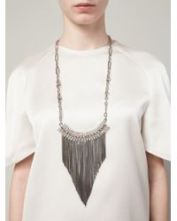 Iosselliani - Metallic 'Metal Instinct' Fringed Necklace - Lyst