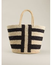 Image result for blue striped straw bag