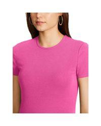 Ralph Lauren - Pink Stretch Cotton Tee - Lyst