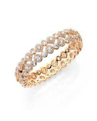 Adriana Orsini | Metallic Teardrop Bangle Bracelet/goldtone | Lyst