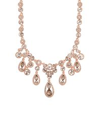 Givenchy | Pink Crystal Glitz Collar Necklace, Rose Goldtone | Lyst
