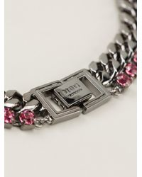 Mawi - Pink Embellished Chain Necklace - Lyst