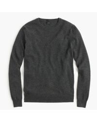 J.Crew | Gray Slim Italian Cashmere Crewneck Sweater for Men | Lyst