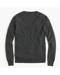 J.Crew - Gray Slim Italian Cashmere Crewneck Sweater for Men - Lyst