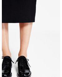 DKNY - Black Midi Pencil Skirt - Lyst