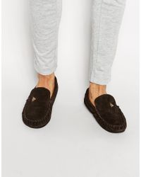 Dunlop | Brown Suede Slippers for Men | Lyst