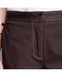 Trademark | Brown Topstitched Pant | Lyst