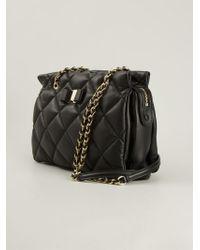 27c37aff1e56 Lyst - Ferragamo  Vara  Quilted Shoulder Bag in Black