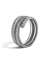 John Hardy - Metallic Classic Chain Sterling Silver Double Coil Bracelet - Lyst
