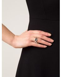 Hoorsenbuhs | Metallic 'quad-link' Ring | Lyst