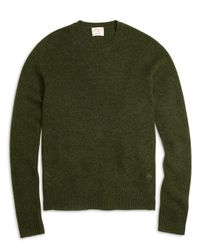 Brooks Brothers | Green Shetland Wool Crewneck Sweater | Lyst