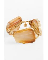 Bourbon and Boweties | Orange 'xl' Dyed Agate Bracelet - Neutral | Lyst