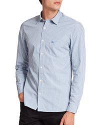 Burberry Brit   Blue Watts Checked Cotton Sportshirt for Men   Lyst