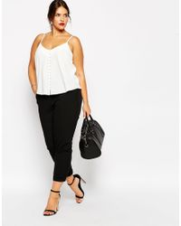 ASOS - White Button Front Cami - Lyst