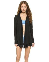 Calvin Klein   Edge Wrap Robe - Black   Lyst