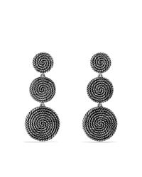 David Yurman | Metallic Cable Coil Tripledrop Earrings | Lyst