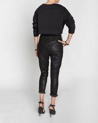 Rag & Bone | Black Suede Dash Trouser | Lyst