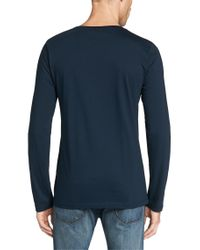 HUGO | Blue Slim-fit Long-sleeve Shirt In Pure Cotton: 'dan' for Men | Lyst