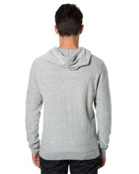 7 Diamonds | Gray Calle Wool And Mohair Blend Zip Hoodie for Men | Lyst