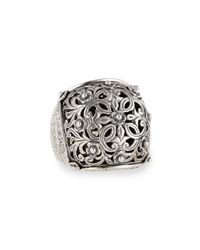 Konstantino | Metallic Sterling Silver Domed Scroll Ring | Lyst