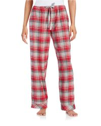 Lord & Taylor | Red Flannel Drawstring Pants | Lyst