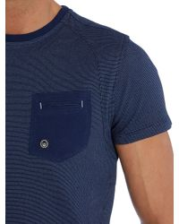 Duck and Cover | Blue Textured Crew Neck Regular Fit T-shirt for Men | Lyst