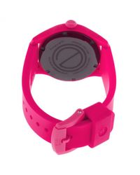 Movado - Esq One Hot Pink Silicone Light Pink Dial - Lyst
