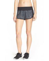 Nike - Gray 'crew' Print Dri-fit Shorts - Lyst