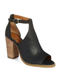 Lucky Brand | Black Lanne Cut-Out Booties | Lyst