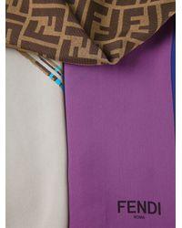 Fendi - Brown Ff Logo Scarf - Lyst