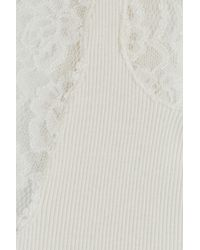 Polo Ralph Lauren - White Arlenis Cotton Tank With Lace - Lyst