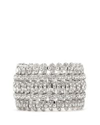Philippe Audibert | Metallic Double Concord Weave Swarovski Crystal Bracelet | Lyst
