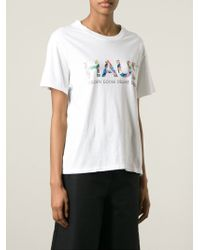 Golden Goose Deluxe Brand - White Printed T-shirt - Lyst