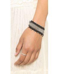 Sam Edelman - Black Chain Mail Macrame Bracelet - Lyst