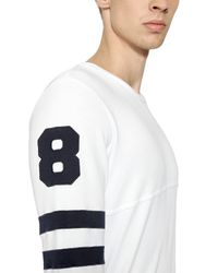 Hydrogen | White Hockey Cotton Sweatshirt With Patches for Men | Lyst