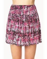 Forever 21   Gray Day Dreamer Abstract Mini Skirt   Lyst