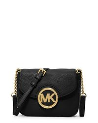 MICHAEL Michael Kors | Black 'small Fulton' Crossbody Bag | Lyst