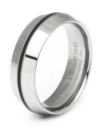 Swiss Legend - Metallic Men's Domed Tungsten Carbide Ring for Men - Lyst