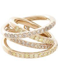 Roberto Marroni - Yellow Diamond, Brown Diamond & Natural White Gold Mul - Lyst